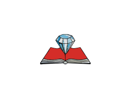 Diamond Books Logo White Text
